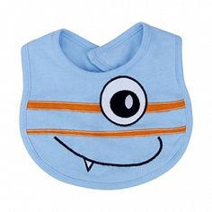 Snuggle Monster Blue Jersey Bib