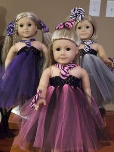 Tulle dress - American doll patterns to make!