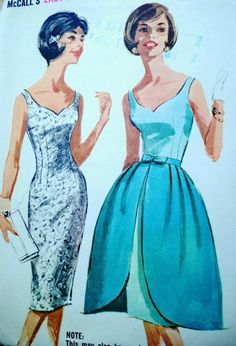 dress patterns from the 1960s | home vintage gown patterns 1960s evening dress pattern sheath ...