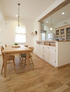 オークの床にナチュラルカラーの家具が広々LDKを優しい空間に Ldk, Nature Decor, Dining, Living Room, Natural, Kitchen, House, Home Decor, Cooking
