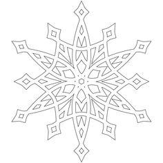 Раскраски трафареты раскраска снежинка