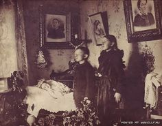"""In the 'death room' -Up until this time, most funerals had taken place at home, in the parlor, or """"death room"""". As more and more funerals began to take place in the new funeral parlors, the home parlor became known as the """"living room"""", and in 1910, the Ladies Home Journal declared the """"death room"""" to be a term of the past."""