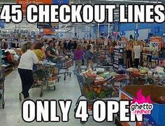 Wal-Mart checkout out lines can be ridiculous for the buyer sometimes. We all fill the role of the buyer at some point in time but Wal-Mart sure knows how to make it a pain.