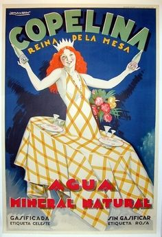 1931 Copelina,  Mineral Natural water vintage Spain advert poster