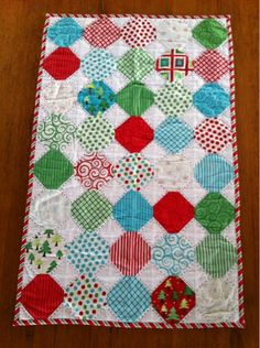 A Farm Wife's Journal  Quick Snowball Table runner made with a charm pack.