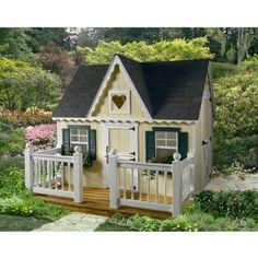 Victorian Playhouse with Front Porch and Railing , click for many more playhouses!