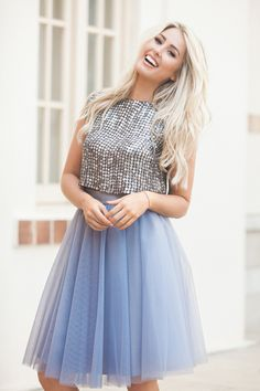 Seen on Model:  The Soft Wendy in Dusty Lilac ,  Presley Sequin Top