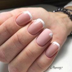 Uñas Francesas Cortas - Hair and nails - Uñas Shellac Nails French, Nail Manicure, Minimalist Nails, Nail Swag, Cute Nails, Pretty Nails, Hair And Nails, My Nails, New Nail Trends