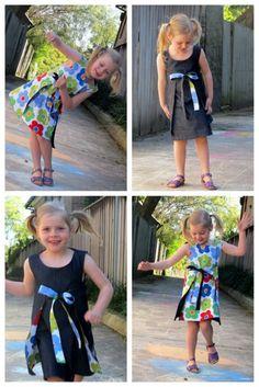 Reversible wrap dress Free Tutorial and pattern.