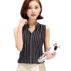2016 Summer Solid White Chiffon Women Blouse Black blusas feminina female office Striped casual Workwear Tops Renda Shirts