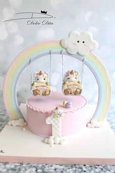 58 Best Ideas For Cupcakes Decoration Girly Showers Unicorne Cake, Cake Art, Eat Cake, Cupcake Cakes, Cake Fondant, Cake Smash, Girly Cakes, Cute Cakes, Twin Birthday Cakes