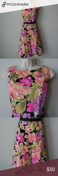 Floral fit and flare dress Multicolored dress. US size 10 New with Tags sheri Dresses Midi