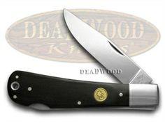 cs1136570 lg CANAL STREET CUTLERY CO Black Buffalo Horn Lock Back 100 made Pocket Knife  1136570