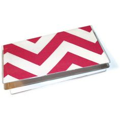 Checkbook Cover / Holder / Case   Chevron  Zig Zag  by Laa766, $6.75 insert / register / checkbook / duplicate / patterned / fabric / top tear / gifts under $10. school / college / dorm