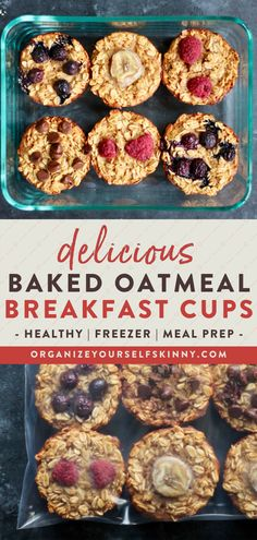 Looking for a healthy clean eating approved meal prep breakfast for the week? These easy and healthy oatmeal cups are low carb perfect for on the go protein-filled & easy to make! Organize Yourself Skinny