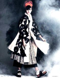 Vanessa Moody as Modern Geisha by Luigi + Iango for Vogue Germany, April 2015.