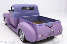 Wow! a vintage truck and it is Purple! ...as much as I like purple I would not do this to a vintage truck