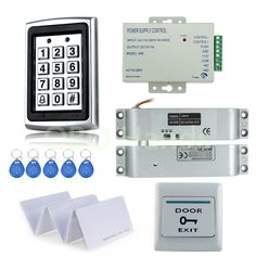 Access Control Original Free Shipping Full Set With Electric Bolt Lock+keypad+power Supply+exit Switch+keys Door Access Control System Kit Security & Protection
