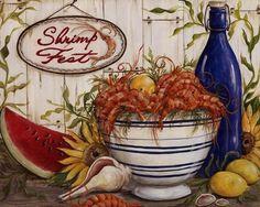 Shrimp Fest by Kate McRostie art print