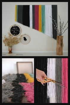 DIY Yarn Wall Art More