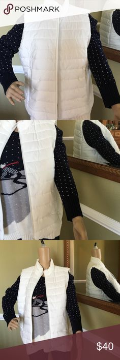 Light weight vest Great with polo or sweater comfortable 100% polyester make a great gift LOFT Jackets & Coats Vests