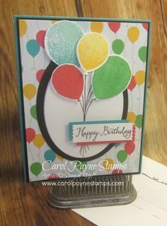 I've been playing with the Balloon Celebrations Bundle! More info on my blog:http://www.carolpaynestamps.com/2016/01/stampin-up-balloon-celebration.html