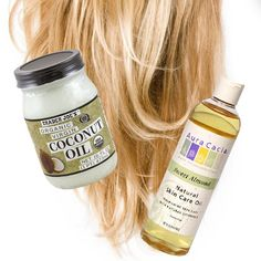 Coconut / Almond Oil Hair Treatment To preface, my hair is a hot mess. Wanna try this....hope it works.