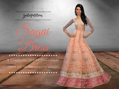 Sagai Dress by Juxtaposition at TSR via Sims 4 Updates