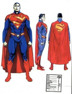 With the upcoming Man of Steel, director Zack Snyder is making some pretty substantial tweaks to the classic Superman look. Superman Suit, Superman Artwork, Superman Man Of Steel, Batman And Superman, Superman Characters, Superman Movies, Superman Family, Dc Comics Characters, Alex Ross