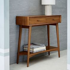 Mid-Century Mini Console - Acorn - Fits great in a small space like a foyer or an apartment.