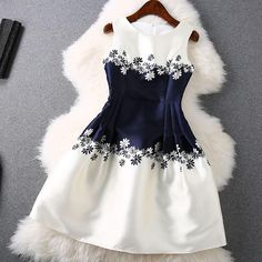 Floral Dress in Blue and White