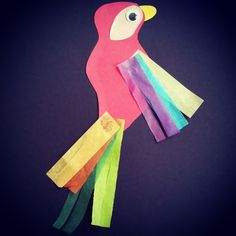 Some summer dayz can be just boring! Perk up your day with this lively parrot craft for preschool storytime here @ Alamitos library! This is also a great craft to pair up for talk like a pirate day!