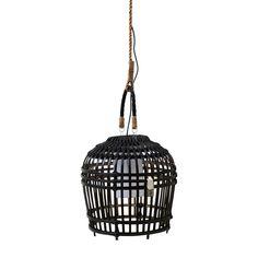 Rivièra Maison San Carlos Hanglamp Pendant Set, Pendant Lamp, Pendant Lighting, Painted Bamboo, Black Lamps, Lighting Online, Ceiling Lights, Inspiration, Spreads