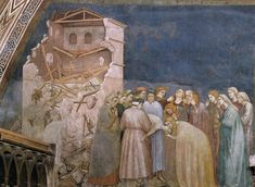 Giotto The Death of the Boy in Sessa (North transept, Lower Church, San Francesco, Assisi) - The Largest Art reproductions Center In Our website. Michelangelo, Tempera, Gouache, Fresco, Giorgio Vasari, Religious Paintings, Late Middle Ages, Italian Painters, Art Database