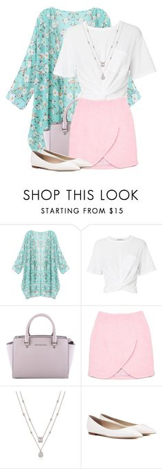 """""""Sweet"""" by my-style-xo ❤ liked on Polyvore featuring T By Alexander Wang, MICHAEL Michael Kors, Carven and Jimmy Choo"""