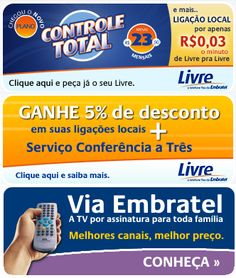 Banner Residencial Via Embratel