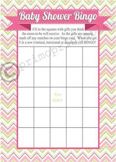 baby shower bingo printable blank free printable baby shower gift