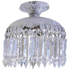 Baccarat Faceted Crystal Hanging Fixture 1
