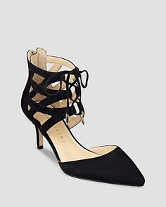 IVANKA TRUMP Pointed Toe Lace Up Pumps - Necila High Heel | Bloomingdale's
