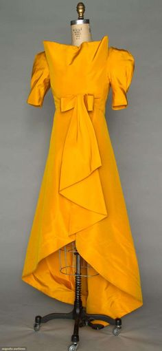 Augusta Auctions, November 2, 2011 NYC, Lot 381: Scaasi Yellow Couture Gown, Spring 1980