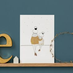 Discover recipes, home ideas, style inspiration and other ideas to try. Art Deco Illustration, Family Illustration, Illustrations, Mother Card, Fashion Wallpaper, Baby Room Decor, Pictures To Paint, Girl Room, Decoration