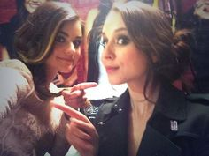 Lucy Hale and Troian Bellisario