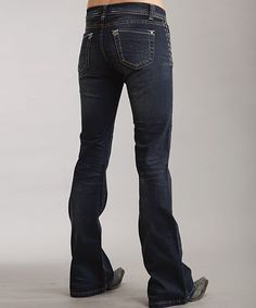 Look at this Stetson Dark Navy 816 Classic Bootcut Jeans - Women on #zulily today!