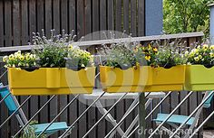 Balcony With Flowers - Download From Over 54 Million High Quality Stock Photos, Images, Vectors. Sign up for FREE today. Image: 85895654
