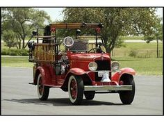 1929 Chevrolet Fire Truck. Love this!!!
