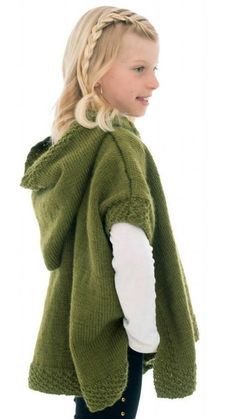 Free Knitting Pattern for Hooded Poncho