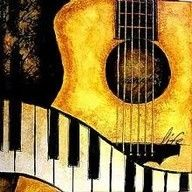Guitar and piano pictures Guitar Painting, Music Painting, Guitar Art, Music Guitar, Jazz Art, Music Love, Music Quotes, Musicals, Canvas