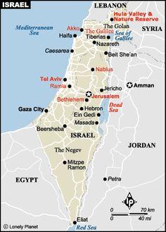 Mapa de Israel Lonely Planet