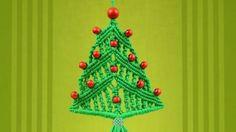 macramé sapin de Noël en petite déco murale