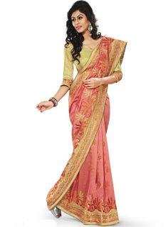 Gajri Brocade Designer Wedding Saree Online With Indian Price
